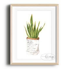 Lola & George - Viper's Bowstring Print Printed on quality silk card. Available in or size. Unframed - any frames and/or additional items shown in product photos not included. A3 Size, Viper, Plant Decor, A4, Frames, Silk, Printed, Cards, Photos