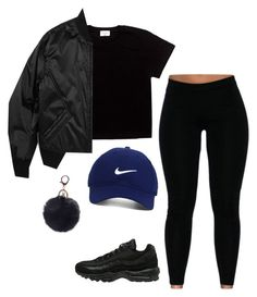 """""""Y'all pay my sets so much dust ☹"""" by seselovly ❤ liked on Polyvore featuring NIKE, Nike Golf and Helmut Lang"""