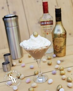 Easter Chocolate Flat White Martini cocktail recipe