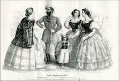 1860 Nyári magyar viselet