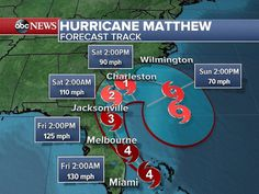 We are praying for all of those involved and/or affected by Hurricane Matthew. Please stay safe friends and family!  #hurricanematthew #mothernature #stateofemergency #category4 #praying