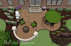 Circle Pavers and Curves Patio