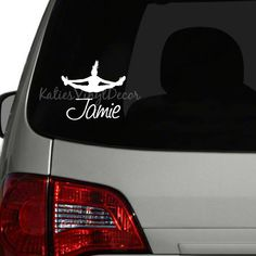 Cheerleading Wall Decal Vinyl Decal Car Decal Bl Vinyls - Window decals for vehicles personalized