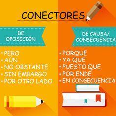 CONECTORES: conjunciones y conectores de #oposición y de #causa - Buscar con Google