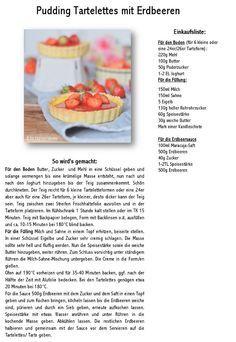 Pudding Tartelettes mit Erdbeersauce   Das Knusperstübchen