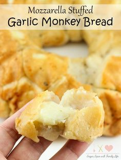 Mozzarella Stuffed Garlic Monkey Bread is a savory twist on monkey bread. This delicious pull apart bread is a great easy appetizer or dinner side dish. #STOUFFERSGOODNESS #CollectiveBias #ad - Mozzarella Stuffed Garlic Monkey Bread Recipe on Sugar, Spice