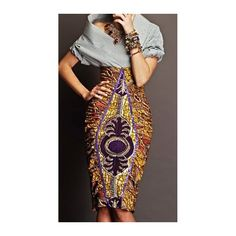 SHOP emerging designers: Stella Jean knows the way to our hearts. This African print skirt is so beautiful with the diamond cut print on top of another. We are green with envy African Inspired Fashion, African Print Fashion, Fashion Prints, African Prints, Ankara Fashion, African Fashion Skirts, Ghanaian Fashion, Skirt Fashion, African Wear