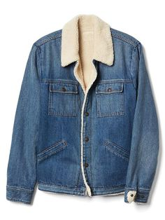 sherpa lined icon denim jacket