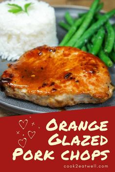 These orange glazed pork chops are done in less than 30 minutes and are so good they'll make it into your quick and easy dinner rotation. In this recipe, thick pork chops are pan fried until golden and finished with an Asian inspired orange glaze that's super easy to put together. Pair the pork chops with white rice and a side of vegetables for a great weeknight meal. #porkchops #orangeglazedporkchops Asian Recipes, Beef Recipes, Cooking Recipes, Healthy Recipes, Ethnic Recipes, Fusion Food, Weeknight Meals, Quick Meals, Pork And Beef Recipe