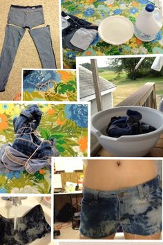 DIY Bleached Jean Shorts