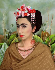 Repinned from: Courtney Brooks  Yasumasa Morimura, Appropriation of Morimura into the iconic Frida Kahlo self portrait