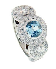 Something borrowed, something blue! The elegance of Aquamarine and diamonds - Brisbane Jeweller - Engagement Rings - MONTASH Jewellery Design - www.montash.com.au