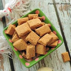 Homemade Oatmeal Tuna Dog Treat Recipe. Easy and healthy with just three ingredients.