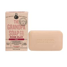 Rose Clay Soap – one of the newest products from The Grandpa Soap Company.