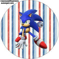 Hedgehog Cupcake, Hedgehog Birthday, Sonic The Hedgehog, Sonic Birthday Parties, Sonic Party, Boy Birthday, Party Printables, Free Printables, Bolo Sonic