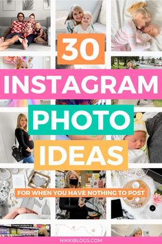 Find 30 Instagram photo ideas for when you have nothing to post! This guide covers content you can EASILY create at home to keep your Instagram profile growing. Click here to steal them all! Instagram Pictures To Post, Instagram Story Ideas, Instagram Tips, Popular Instagram Accounts, Instagram Marketing Tips, Social Media Marketing Business, Marketing Goals, Social Media Content, Social Media Tips