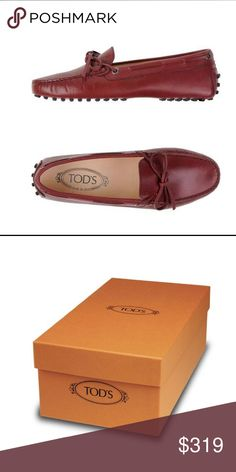 """NWT Tod's Loafer Sz 9 - Stunning New with tags. Stunning TOD's loafers in rich auburn brown (called """"brick red""""). Soft leather.  Round toe line. Soft rubber nub tipped sole. Fantastic price for refined, elegant, iconic brand. Tod's Shoes Flats & Loafers"""