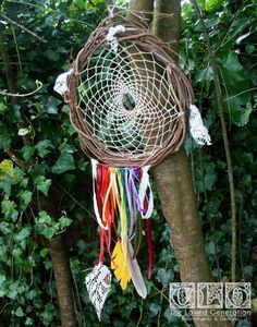 Dreamcatcher 'Rainbow Chaser' with Hemp and Lace. Made by The Loved Generation $39.00, via Etsy.