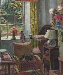 Vanessa Bell painting, Charleston Drawing Room, c1945, 61 x 51cm