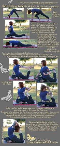 How To Get to king pigeon pose - great beginner guide for #yoga poses