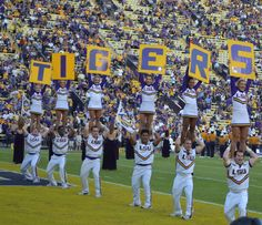 GEAUX!!!! TIGERS!!!! LSU Cheerleaders
