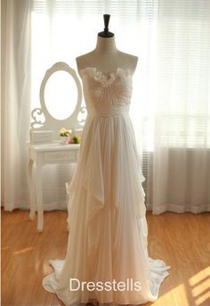 Aliexpress.com : Buy Sweetheart Ruffles Chiffon Pleats  .. $98!