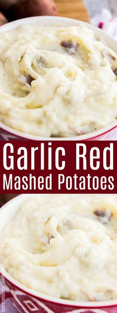 The Best Garlic Red Mashed Potatoes! SO yummy and the perfect thanksgiving side dish recipe. - New Site Garlic Red Mashed Potatoes, Healthy Mashed Potatoes, Perfect Mashed Potatoes, Making Mashed Potatoes, Roasted Potatoes, Veggie Recipes, Cooking Recipes, Aloo Recipes, Recipies