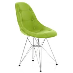 nice Cushioned Eames Style DSR Chair Green Buy this and much more home & living products at http://www.woonio.co.uk/p/cushioned-eames-style-dsr-chair-green/