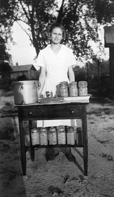 Cooperative Extension's food safety and preservation programs have their roots in early efforts to help girls, like this 1940s 4-H'er, earn additional farm income and have a safe, nutritious and adequate supply of food at home. Since then, they've proven invaluable in helping families through depressions, recessions and wartime and in helping North Carolinians launch food-based businesses.