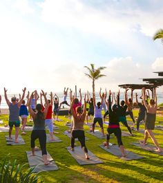Center yourself and let your cares fall away during a sunrise yoga session at The Ritz-Carlton, Bali.