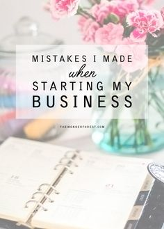 SEO & Marketing Helper Is Here! — MISTAKES I MADE WHEN STARTING MY BUSINES
