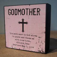 Personalized Godmother Gift Godmother God Mother Gift Sign Gift Godparents you were sent by god above to guide and bless me with your love Godfather Gifts, Rhyme And Reason, Box Signs, Happy Relationships, Proposal Ideas, Proposal Quotes, Proposal Letter, Love Symbols, Kid Names
