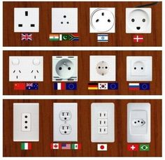 Take note of Charging points while traveling overseas