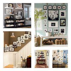 So many ways to do gallery walls!