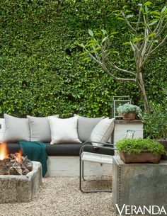 Scott pruned dense greenery to create living walls in his yard. They add an element of seclusion, without making the space feel claustrophobic.   Photos courtesy of Lisa Romerein for Veranda