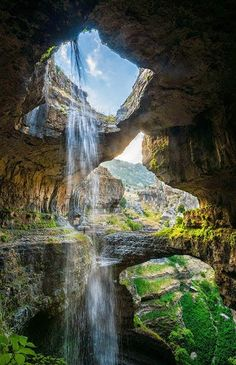Baatara gorge waterfall, Lebanon Beautiful Waterfalls, Beautiful Scenery, Beautiful Landscapes, Beautiful World, Beautiful Places, Travel Tours, Travel Ideas, Travel Destinations, Luxury Landscaping