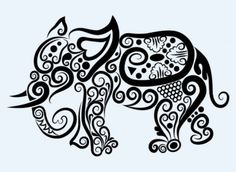 Line art animal pattern 10 vector Vector pattern - Free vector for free download