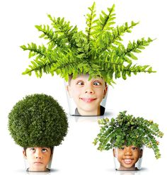 Great idea. The kids can take care of their own plant with their own face or the face of whom ever they want.