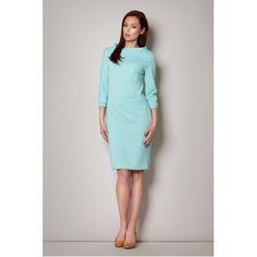 Rochie midi verde deschis cu decolteu barcuta