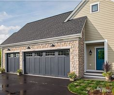 The Better Homes and Gardens Innovation Home: Clopay composite garage doors look like wood but won't rot or warp.