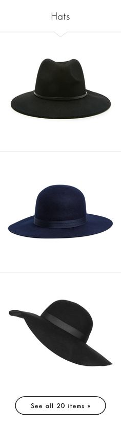 Hats by papersteph on Polyvore featuring polyvore, women's fashion, accessories, hats, black, fedora, sombreros, wool brim hat, forever 21, forever 21 hats, wool fedora hat, wool hat, blue, brimmed hat, band hats, wide brim hats, round hat, blue hat, cappelli, hair, wide brim fedora, topshop, floppy brim hat, fedora hats, felt hat, floppy hat, felt floppy hat, dorothy perkins, beanie, head, beanie cap hat, party hats, beanie cap, beanie hats, round brim hats, tall hat, crown hat, wool felt…