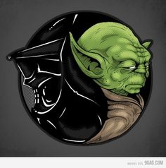 Ying N yang Vader and Yoda