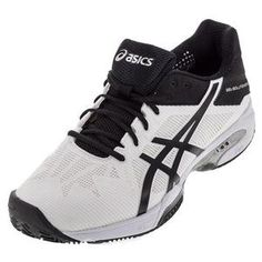 e510b1ec6bfa ASICS MENS GEL-SOLUTION SLAM 3 TNS SHOES WH/BK Clay Court Tennis Shoes