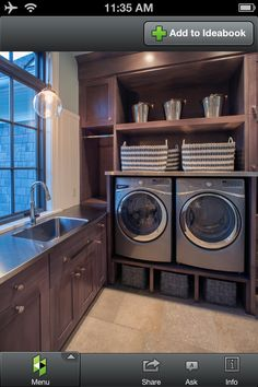 Cute mud room/ laundry area! #want