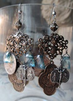 ❥ 'roman tokens' earrings by The French Circus on Etsy