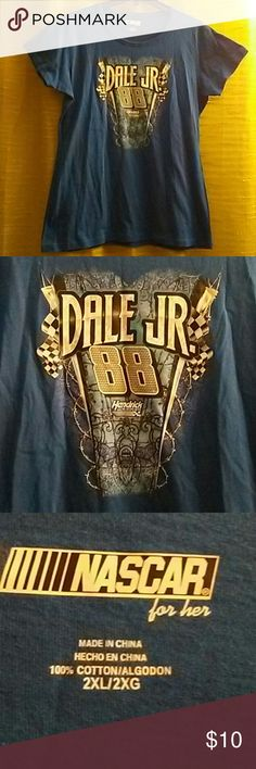 Dale Jr. 88 Nascar Tee Dale Jr. 88 hendrick motor sports nascar for her royal blue tee size 2x,100%cotton,made in china,length from shoulder to bottom measures about 28inches long Nascar Tops Tees - Short Sleeve