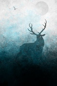 deer, antlers, galaxy, stars... Awesome art on Society6