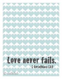 Christian Art - Inspirational Art Print - Illustration - Bible Quote - Love Art - Contemporary Print - Modern Art Print. $13.00, via Etsy.
