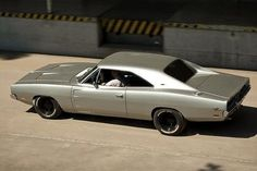 Silver 1969 Dodge Charger: