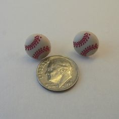 Things the boyfriend would like for me to own. Baseball earrings. :)
